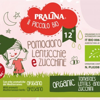 BIO BABY FOOD TOMATOES, LENTILS AND ZUCCHINI